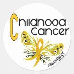 Childhood Cancer BUTTERFLY 3.1 Round Sticker
