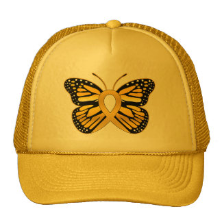 Childhood Cancer Butterfly Awareness Ribbon Cap