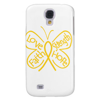 Childhood Cancer Butterfly Inspiring Words Galaxy S4 Covers