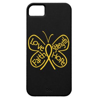 Childhood Cancer Butterfly Inspiring Words iPhone 5 Case