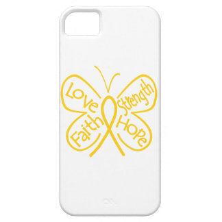 Childhood Cancer Butterfly Inspiring Words iPhone 5 Covers