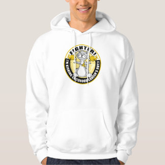 Childhood Cancer Cat Fighter Hoodies