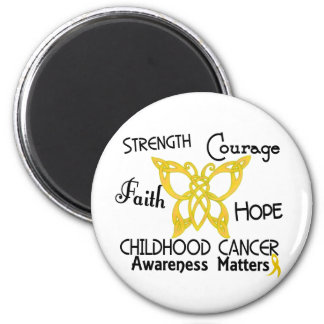 Childhood Cancer Celtic Butterfly 3 6 Cm Round Magnet