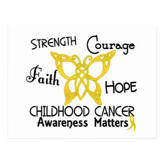Childhood Cancer Celtic Butterfly 3 Postcard