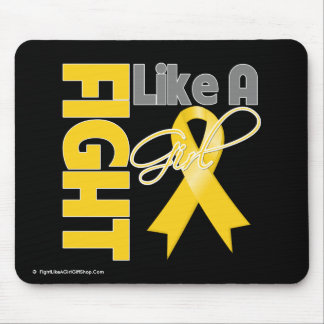 Childhood Cancer Chic Fight Like A Girl Ribbon Mouse Pad