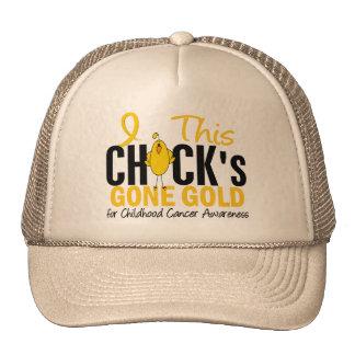 CHILDHOOD CANCER Chick Gone Gold Cap