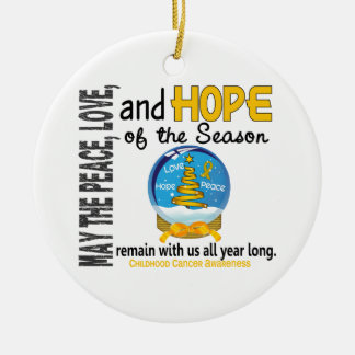 Childhood Cancer Christmas 3 Snow Globe Ornaments