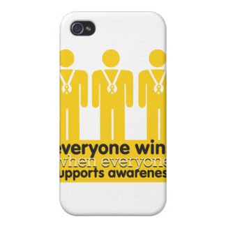 Childhood Cancer Everyone Wins With Awareness iPhone 4/4S Cover