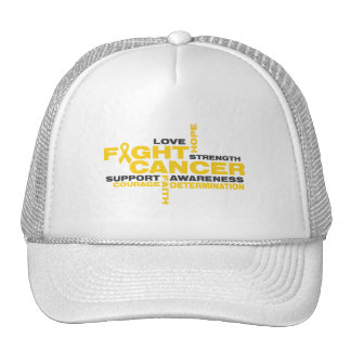 Childhood Cancer Fight Collage Hats