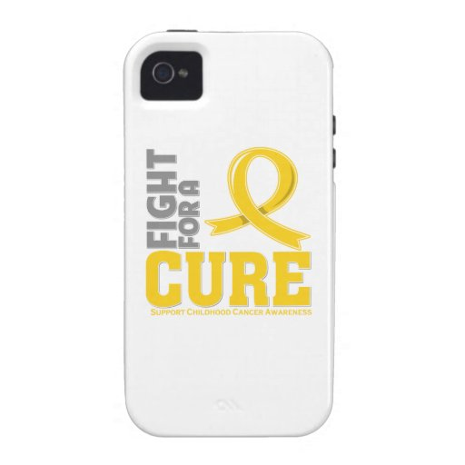Childhood Cancer Fight For A Cure Vibe iPhone 4 Cases