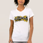 Childhood Cancer Fight Like A Girl  Butterfly Tee Shirt