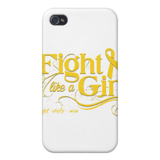 Childhood Cancer Fight Like A Girl Elegant iPhone 4 Cover