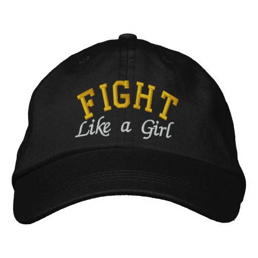 Childhood Cancer - Fight Like a Girl Embroidered Hat