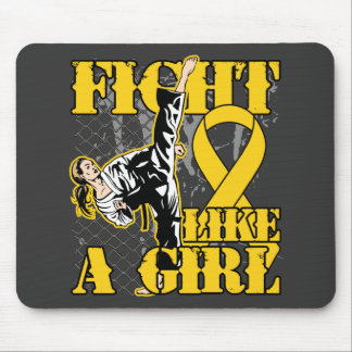 Childhood Cancer Fight Like A Girl Kick Mouse Pad