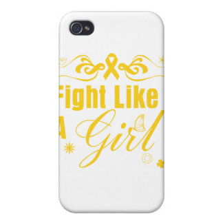 Childhood Cancer Fight Like A Girl Ornate Cover For iPhone 4