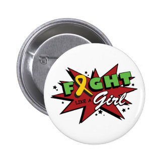 Childhood Cancer Fight Like A Girl POW! Buttons