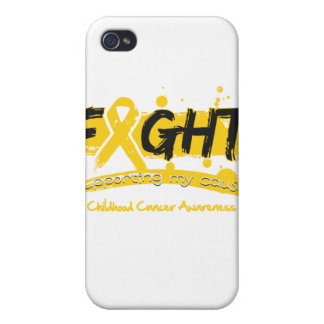 Childhood Cancer FIGHT Supporting My Cause iPhone 4 Covers