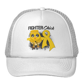 Childhood Cancer Fighter Chick Grunge Mesh Hat