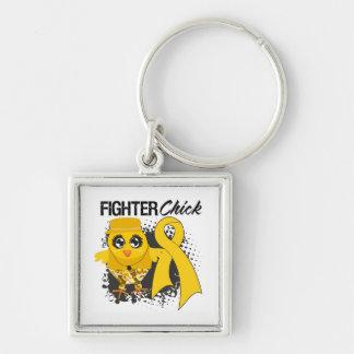 Childhood Cancer Fighter Chick Grunge Keychains