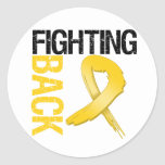 Childhood Cancer Fighting Back Classic Round Sticker