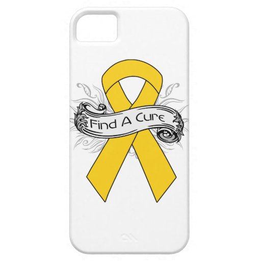 Childhood Cancer Find A Cure Ribbon iPhone 5 Cases