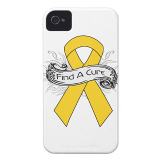 Childhood Cancer Find A Cure Ribbon iPhone 4 Case-Mate Case