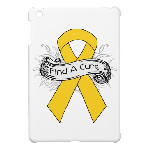 Childhood Cancer Find A Cure Ribbon Case For The iPad Mini