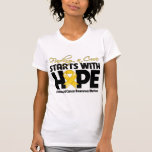 Childhood Cancer Finding a Cure Starts With Hope T-shirts