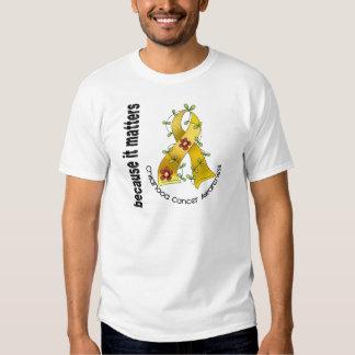 Childhood Cancer Flower Ribbon 3 Tshirt