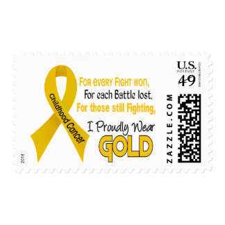 Childhood Cancer For Every…..I Proudly Wear Gold 1 Stamps