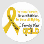Childhood Cancer For Every…..I Proudly Wear Gold 1 Round Stickers