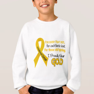 Childhood Cancer For Every…..I Proudly Wear Gold 1 Sweatshirt