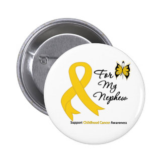 Childhood Cancer For My Nephew 6 Cm Round Badge
