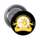Childhood Cancer - Freedom From Cancer Survivor Pin
