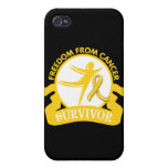 Childhood Cancer - Freedom From Cancer Survivor iPhone 4/4S Cover