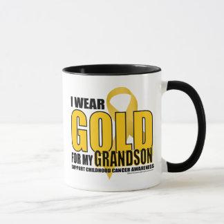 Childhood Cancer Gold for Grandson Mug