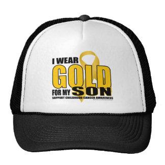 Childhood Cancer Gold for Son Cap