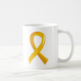 Childhood Cancer Gold Ribbon 3 Coffee Mug