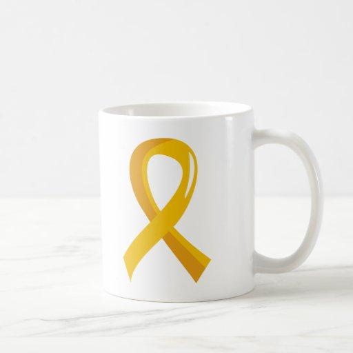 Childhood Cancer Gold Ribbon 3 Mug