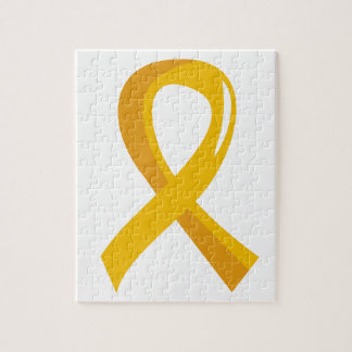 Childhood Cancer Gold Ribbon 3 Puzzles