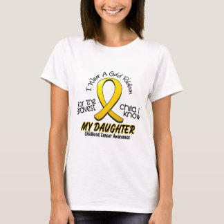 Childhood Cancer Gold Ribbon For My Daughter T-Shirt