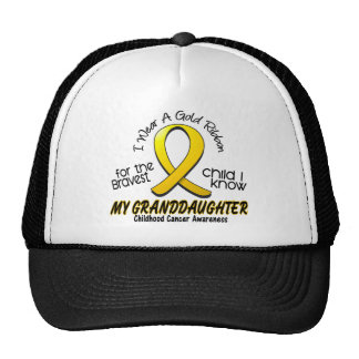 Childhood Cancer Gold Ribbon For My Granddaughter Cap