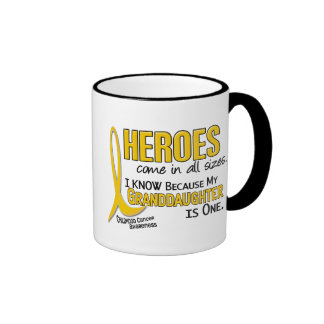 Childhood Cancer Heroes All Sizes 1 Granddaughter Coffee Mugs