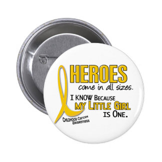 Childhood Cancer Heroes All Sizes 1 Little Girl 6 Cm Round Badge