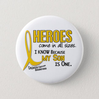 Childhood Cancer Heroes All Sizes 1 Son 6 Cm Round Badge
