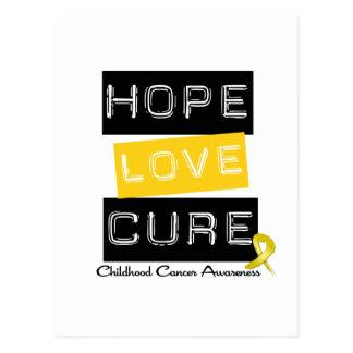 Childhood Cancer Hope Love Cure Postcard