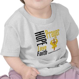 Childhood Cancer Hope Love Faith Prayer Cross Tees