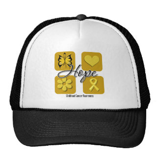 Childhood Cancer Hope Love Inspire Awareness Cap