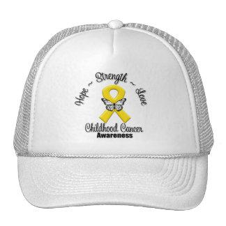 Childhood Cancer Hope Strength Love Trucker Hat