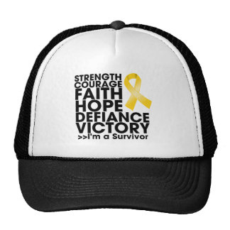 Childhood Cancer Hope Strength Victory Trucker Hat